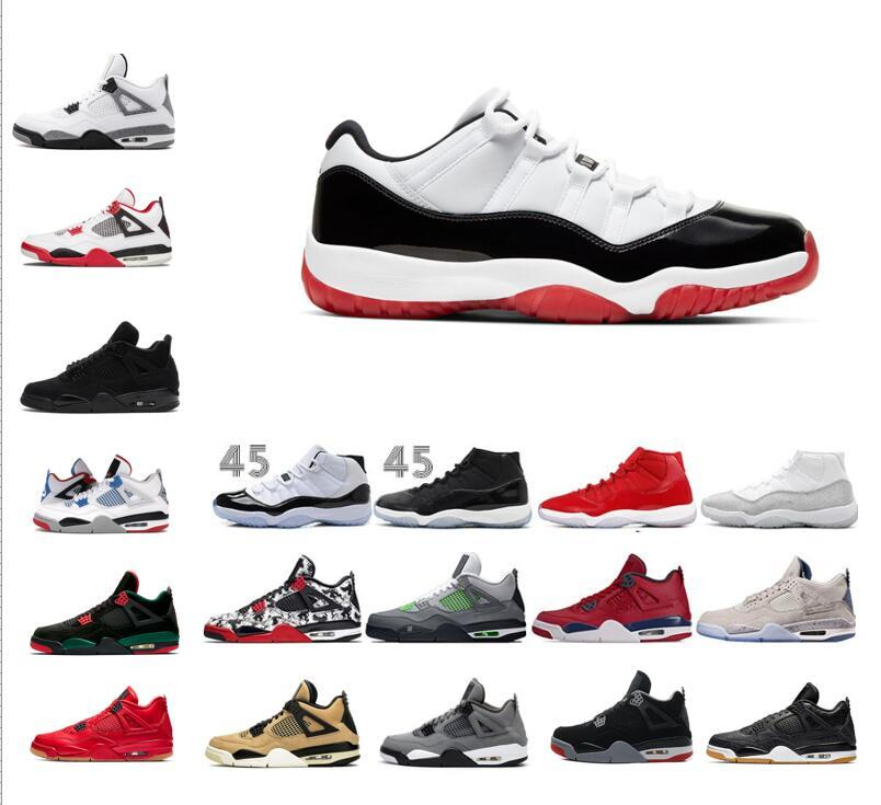 2020 Low Concord Bred 11 11s space jam bred varsity red concord man and woman basketball shoes 11s sneaker 4 black cat