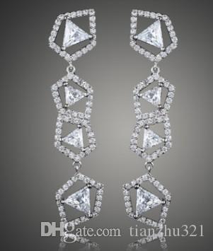 gros prix bas haute qualité 2pcs / chaming boucles d'oreilles cristal diamant dame 33.2f