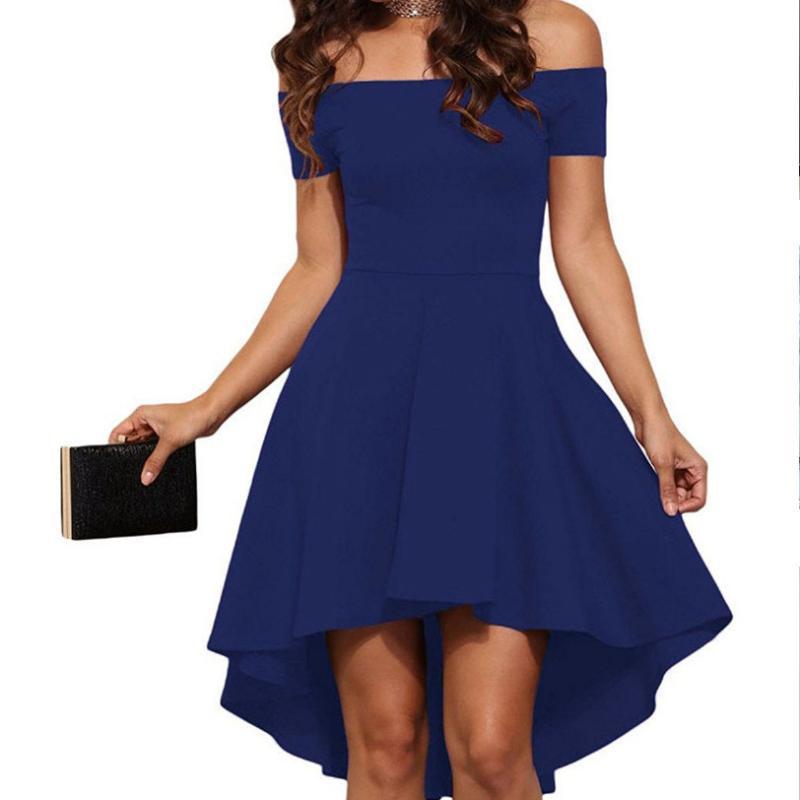 2020 европейские и американские новые женские платья, взрывы, одно плечо с короткими рукавами, большая Ласточка смокинг юбка