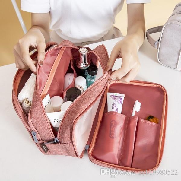 Женщины Путешествия Портативный Косметические сумки Мужские сумки туалетных ванной Подвесной Органайзер макияж Wash Bag