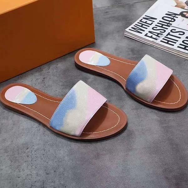 2021 Luxury Designer Chinelo Mulheres Moda Sandals Classic Lady alfabética Casual Virar Sandy Flops Tamanho Flat 35-42 Com a caixa