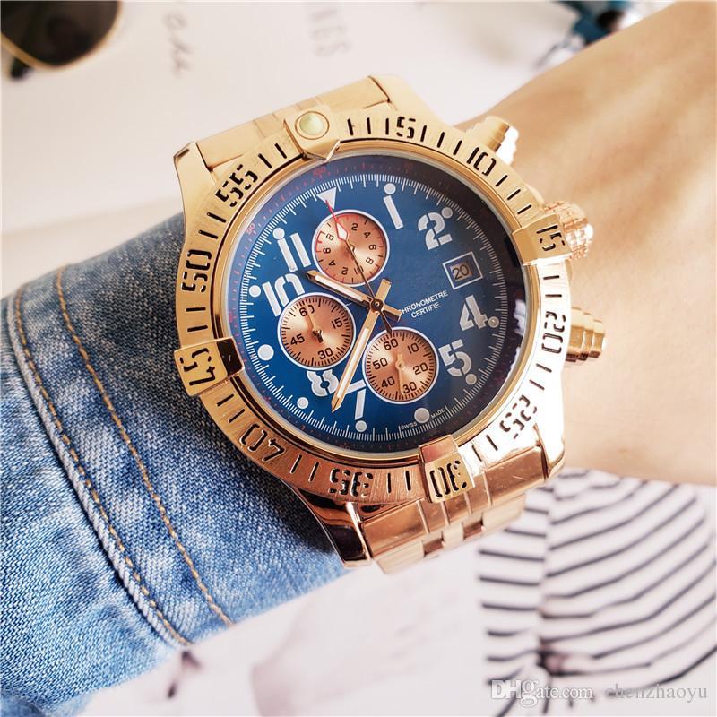 Luxusuhr Alle Subdials Arbeiten Luxusuhr Herren Edelstahl Mode Uhr Stoppuhr Herren Top Nachladen Bestes Geschenk Big Bang