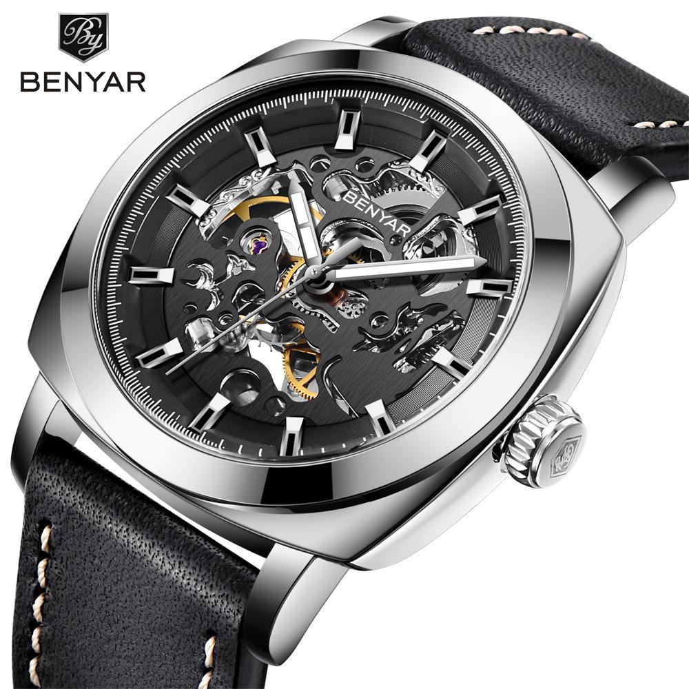 Relogio ذكر للBENYAR للرجال ساعات الأعلى العلامة التجارية الفاخرة التلقائي الرجال الميكانيكية الأعمال مقاوم للماء الرياضة ووتش ريلوخ هومبر