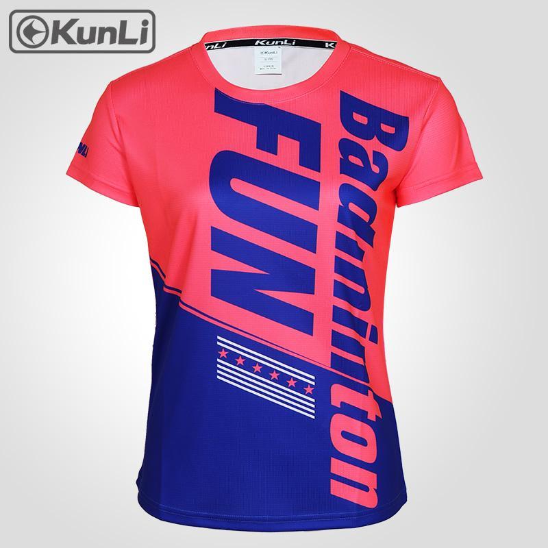 shirt T-shirt de basquete Voleibol roupas correndo Kunli ténis de manga curta camisa mulheres esportes ao ar livre roupas badminton