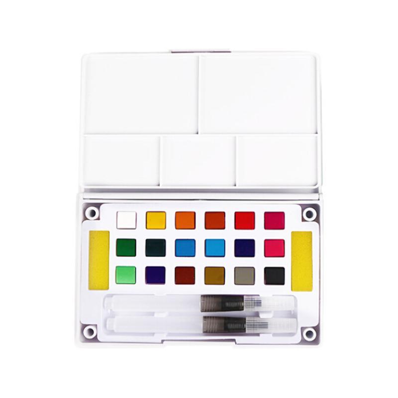 18/24/36 Couleurs Avec Paintbrush Aquarelle Pigment Set professionnel Aquarelle solide peinture Box Set pour l'école Art Supplies