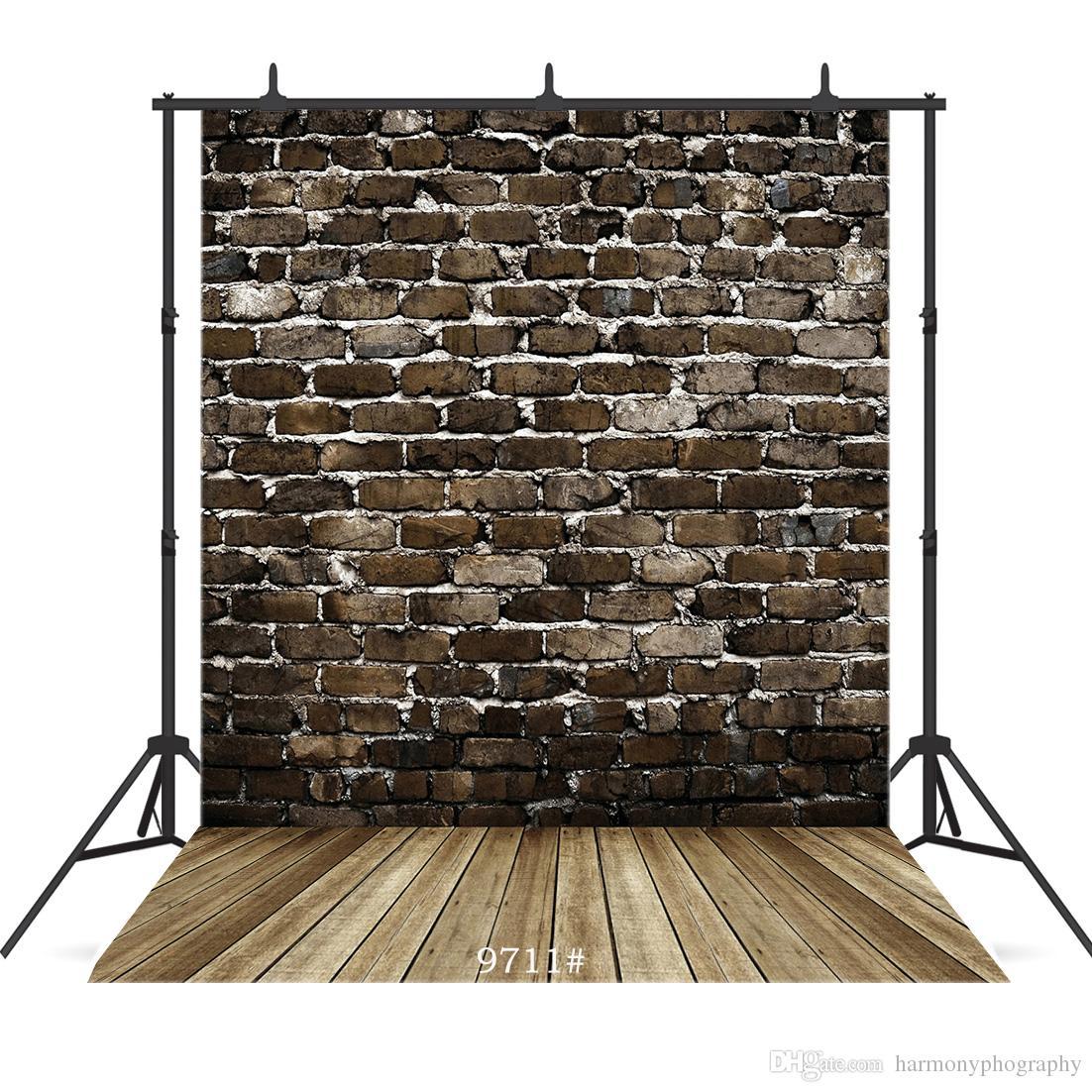 Vintage muro de ladrillo oscuro Vinilo photography Fondo para la ducha del bebé del niño recién nacido estudio telón de fondo photocall foto retrato