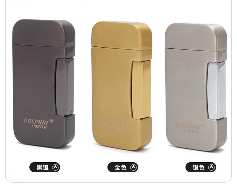 새로운 유형의 두 속이다 토치 터보 라이터 푸른 불꽃 전자 라이터 가스 라이터 부탄 미니 시가 담배 라이터 선물