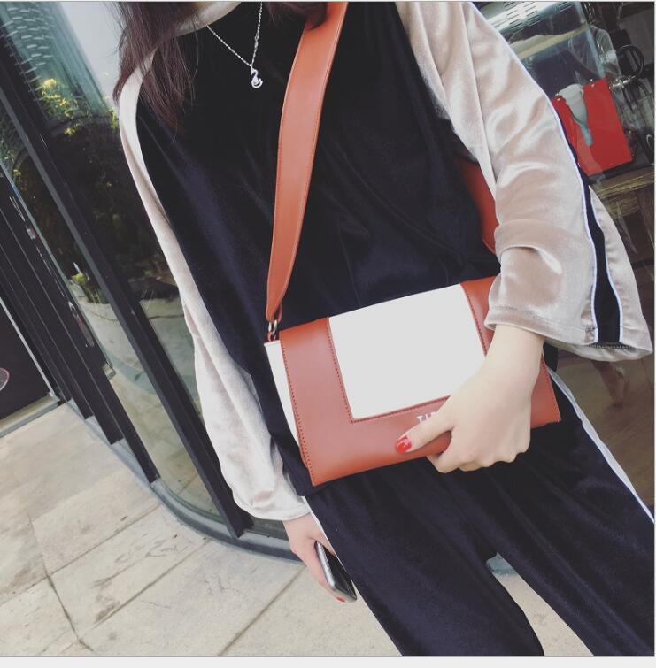 Womens de embreagem de couro 2019New bolsa de moda bolsa de bolsa de bolsa de bolsa de marca flap cruzar o ombro real suwvj grijw