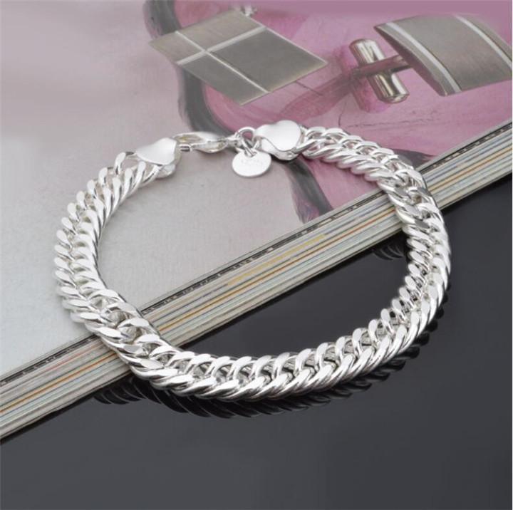 Più nuovo braccialetto a catena Bracciali Figaro Argento 925 gioielli uomini del braccialetto di modo