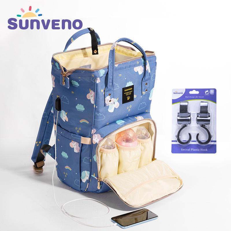 SUNVENO Mummy Maternidade Diaper Fralda Bag Organizar Grande Capacidade do bebê Mochila Enfermagem saco para mãe Baby Care Y200107 Crianças