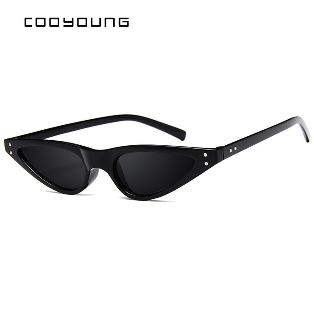 Cooyoung Mesdames Marque Designer Lunettes de soleil Femme Classique Retro Cat Eye Lunettes de soleil en plein air Oculos De Sol CKNto