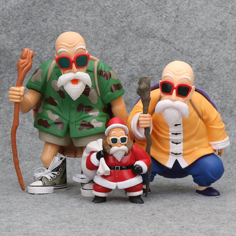 Dragon Ball Z Action-Figur DBZ Master Roshi Weihnachts Vision Weihnachtsmann Figuren-PVC-Tätigkeits-Abbildung Spielzeug T191109