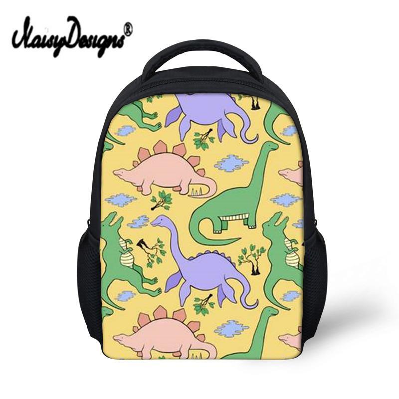 Noisydesigns New School mochila para Meninas Menino Crianças Jurassic Dinossauro Impressão Little Children projeto saco de 12 polegadas Drop Shipping