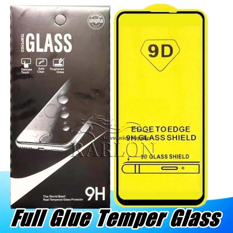 5D 9D 10D vetro temperato antigraffio protezione dello schermo di iPhone del cinema per 11 Pro XS MAX XR X 8 7 Huawei P30 Lite Y6 Y7 PRO Y9 P intelligente 2019