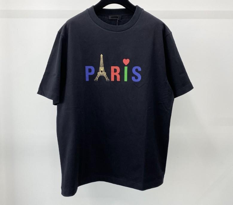 20ss Herren T-Shirt Paris Männer-Frauen-Qualitäts-T-Shirt Schwarz Weiß Sommer-T-Shirt