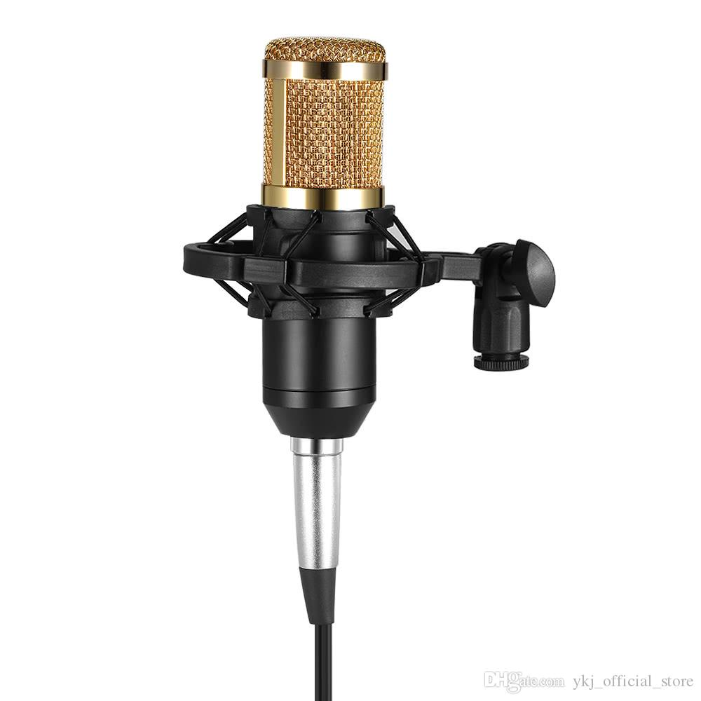 Professionelle USB-Kondensatormikrofon Handheld BM 800 Studio Sound-Mikrofone Aufnahme mit Shock Mount für KTV Karaoke-Computer