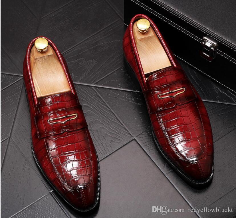 2019 Mens Business Casual Dress Shoes