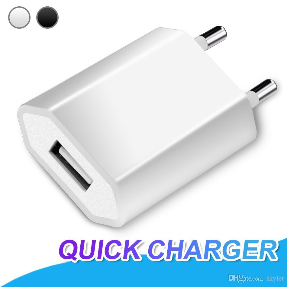 Universal USB carregador de parede completa 1A portátil de carregamento Adaptador EU Plug adaptador de carregamento para a Universal celulares Início Charger Adapter