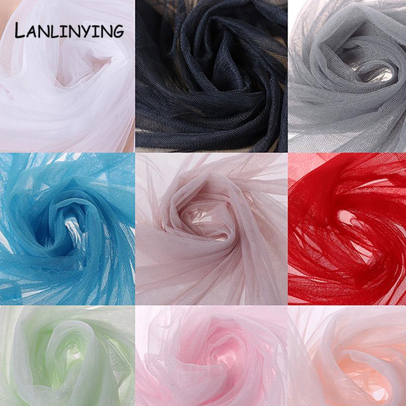 Nuovi 10 metri di arrivo / lot morbido tulle tessuto zanzariera garza Materiale Handmade per Pomp Gonna Curtain D407 SH190925