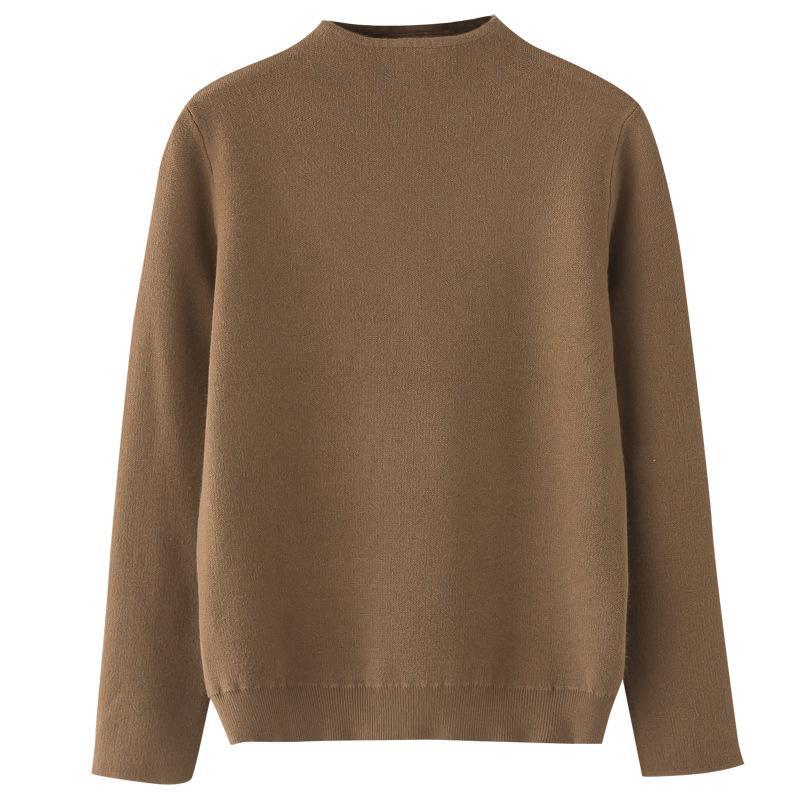 Automne / Hiver 2020 femme Pull tricoté, couleur unie à col roulé Simple Top Pull, élégant en vrac Tricoté Sweaterh0033 Casual