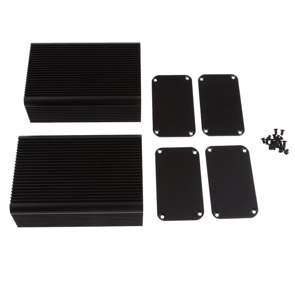 La amplificación enmarcar la caja completa caja de aluminio de 2 pulgadas Piezas 3,15x1,8x4,5 de bricolaje