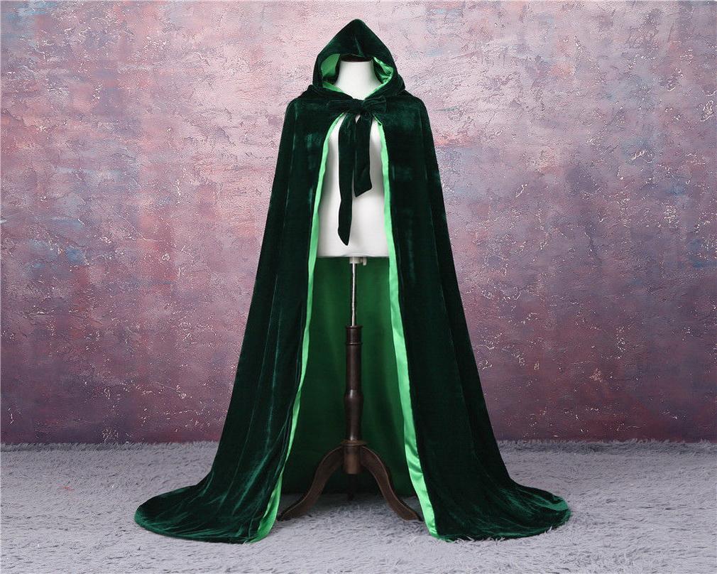 2020 novo barato barato unisex adulto casamento casamento nupcial capuz capa longa capa acessórios casamento acessórios de halloween traje noiva de casamento veludo