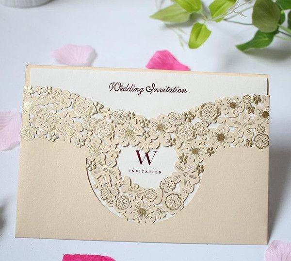 Marry Invitation Card Hollowing Out Greeting Cards Gold Wedding Decorate Supplies Creative Photo Special Cardboard Hot Sales Buy Egift Cards Online