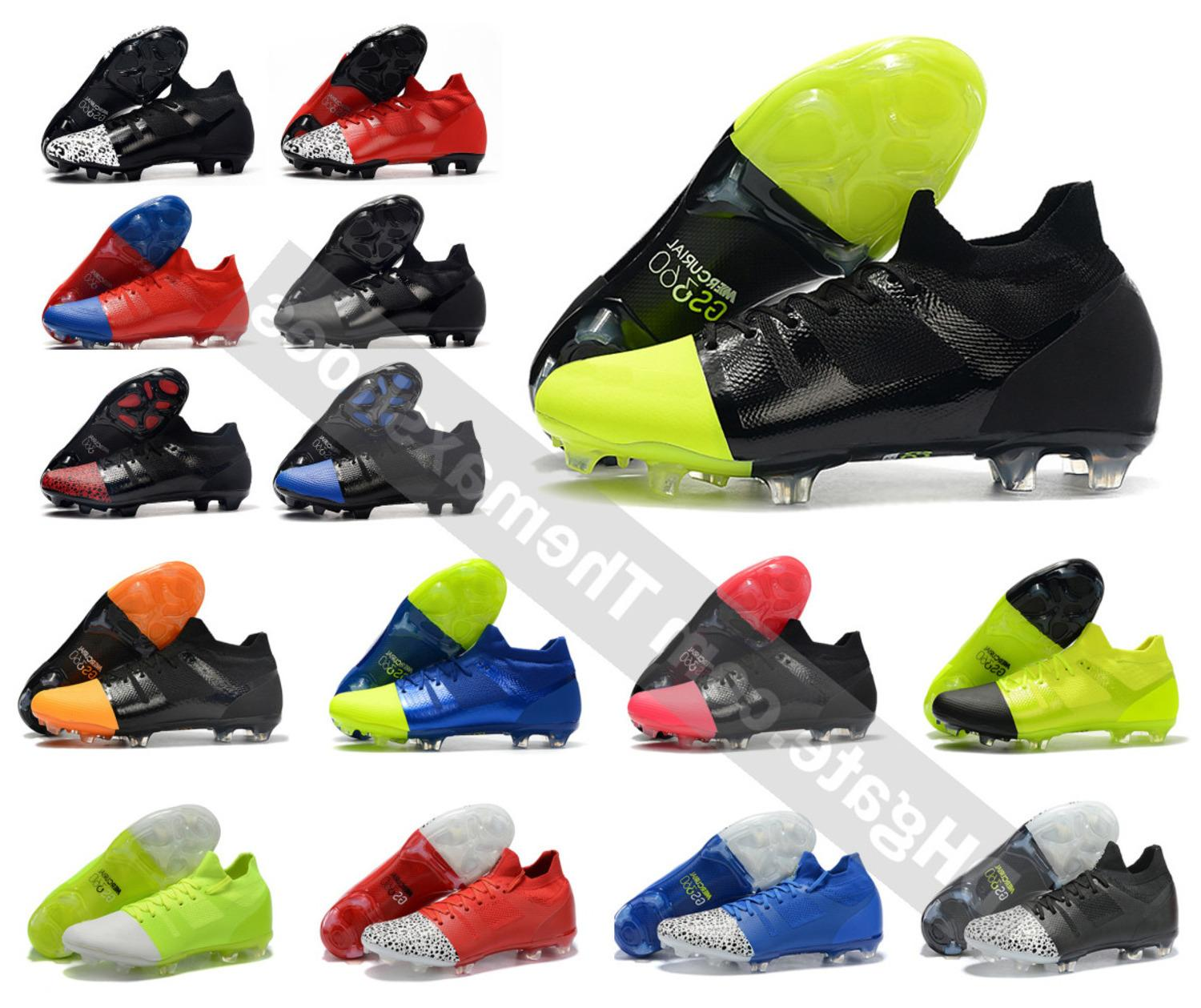 Superfly 360 Hot GS Mercurial Greenspeed Elite FG Green speed High Ankle CR7 Mens High Soccer Shoes Football Boots Cleats Size 39-45