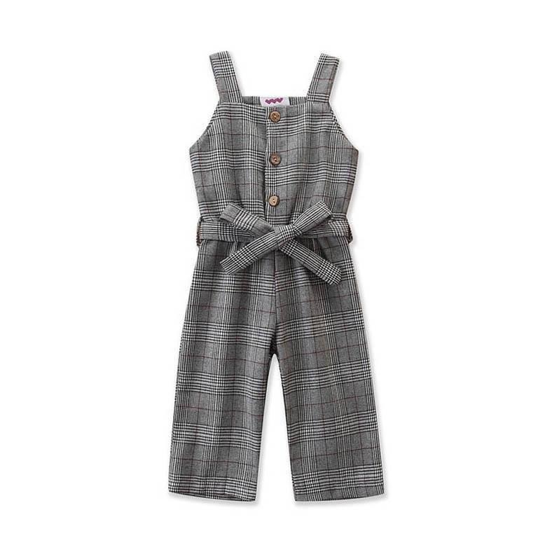 الوظائف الجديدة 2020 أزياء الفتيات الحمالات الحمالات مصمم الملابس الاطفال الحمالات الاطفال الفتيات بذلة اطفال السراويل الفتيات الملابس B170