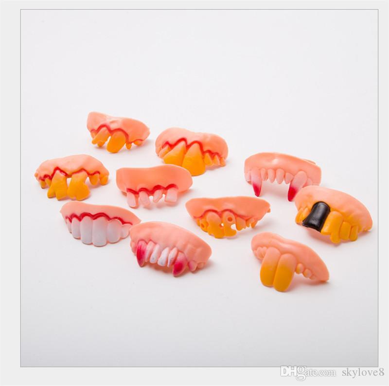 Halloween 12 prothèses dentaires unisexe Avril Fool les dents de vampire jour de Pâques mascarade accolades drôles