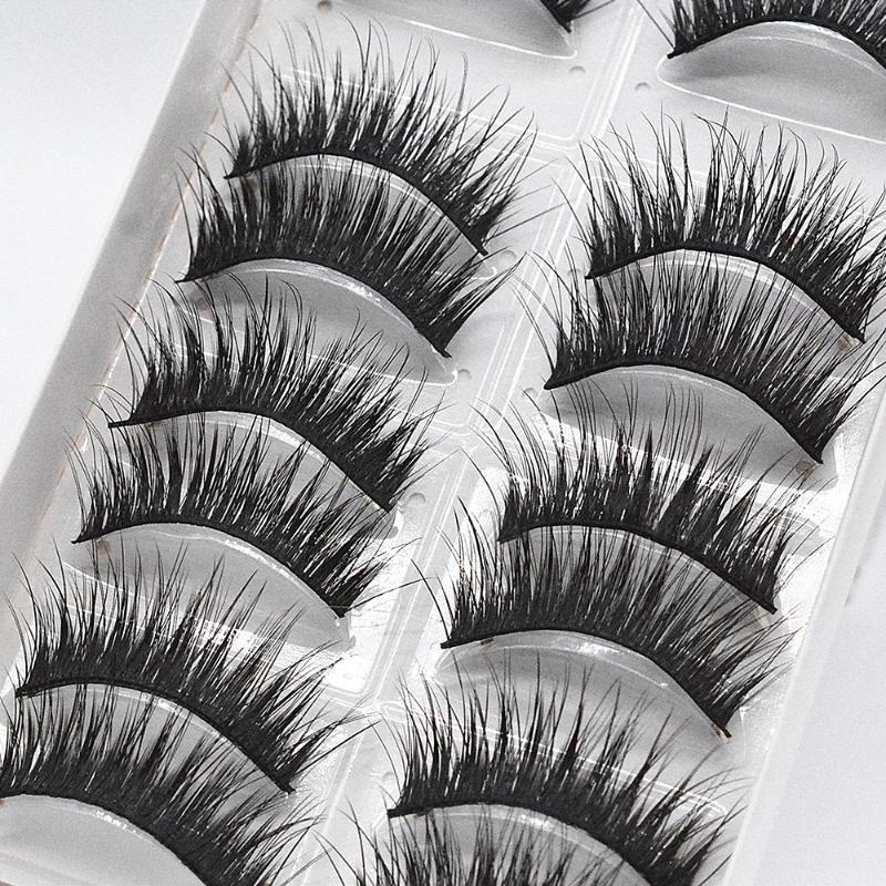 3D Natural Length Thickening Stage Eyelashes Soft False Eyelashes Hair Eyelash Long Lashes Eye Thick Cross Beauty Makeup 1set