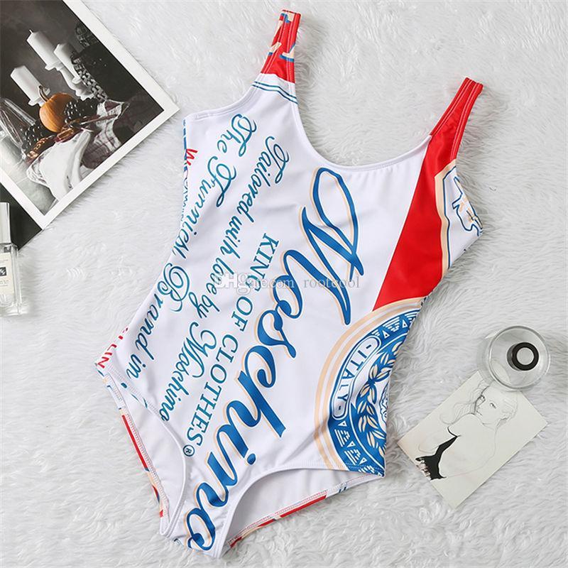 SS20 новое поступление высокое качество дизайнер Mos купальник летний пляж бикини купальники для женщин сексуальный размер S-XL 8819