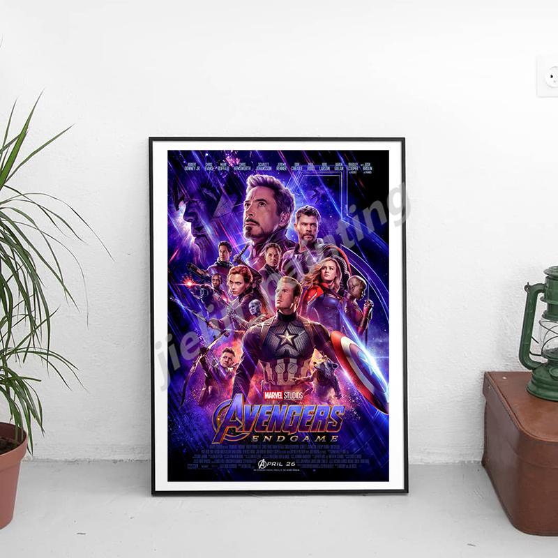Avengers Marvel Super-héros Endgame Canvas estampes Image modulaires Peintures pour le salon affiche sur le mur Décoration