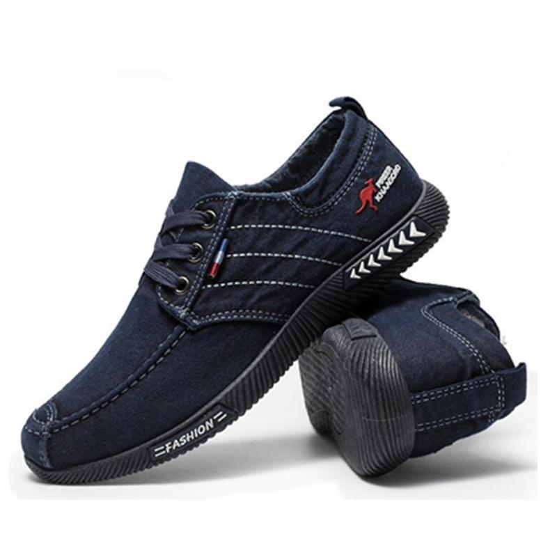 Frühling Herbst Deodorant atmungsaktive Schuhe 2019 neue Herren Freizeitschuhe Herren Low Top klassischen Stil Denim Segeltuchschuhe X161