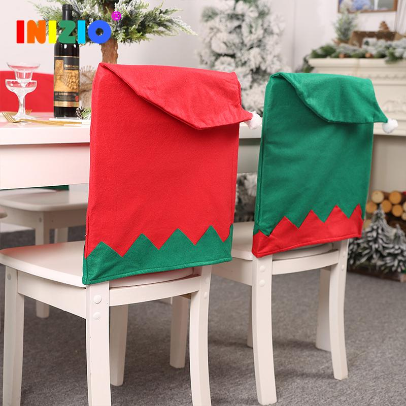 2020 New Christmas Home Decoration Chair Covers Christmas Ornaments Snowman Santa Claus Kitchen Accessories Decorations For Home