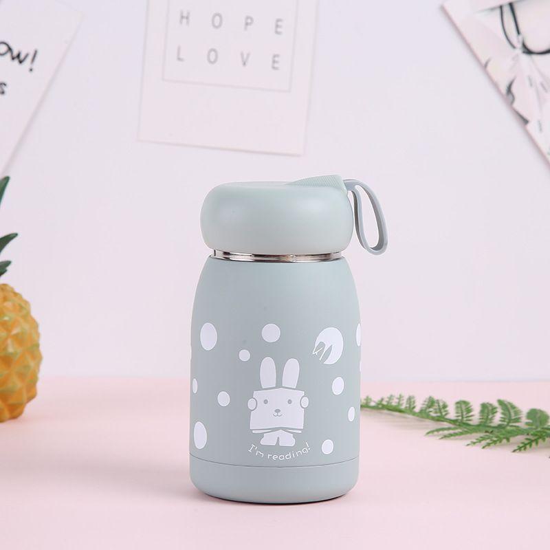 320ml Moda Yeni Paslanmaz Çelik Termos Sevimli Çocuk'S Mini Mug Taşınabilir Termal Vakum matara Kupası Şişeler