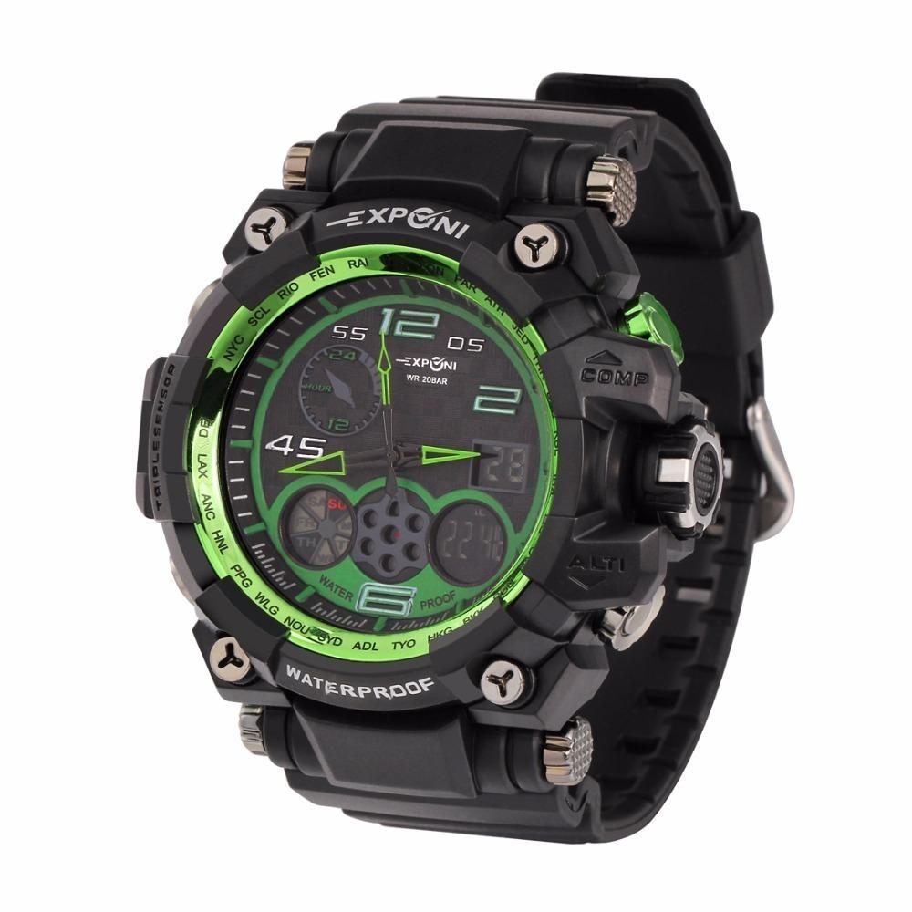 Luxury Mens Military Sports Watches Men Led Digital Wristwatches 50m Waterproof Rubber Strap Camping Diving Relogio Masculino C19041001