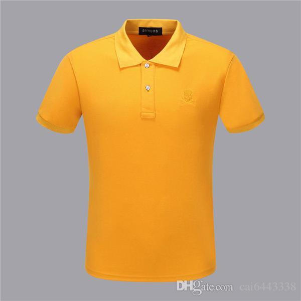 Nova Moda Impresso # 88 Homens Camisa Polo Lapela Gola Slim Fit Tops de Manga Curta Casual Clássico Negócio Masculino Algodão PP Polos Camisas
