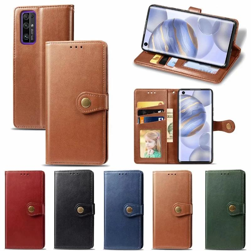 For Samsung Note 20 Pro A21S A51 A71 5G Huawei Honor 30 Pro 30S 9A Vintage Leather Wallet Case Retro Ancient Flip Cover Card ID Slot Holder
