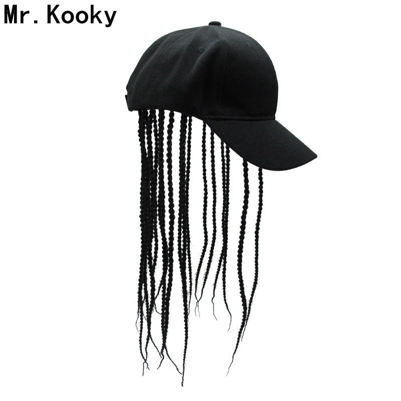 Mr.Kooky unisex peluca de pelo de los dreadlocks del casquillo del partido de la novedad sombreros de cumpleaños regalos frescos Hippie Hip divertido de la mordaza del traje de Halloween Hop Gorro T200323