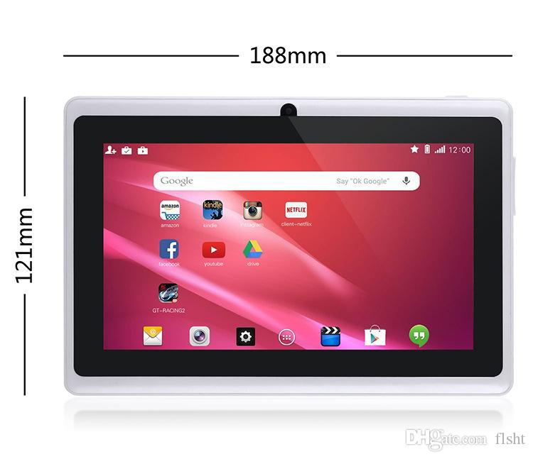 7Inch Android tabletpc Q88 Quad-Kernkern-Kinder-Tablet Android 4.4 Allwinner A33-Player 1 8 GB WLAN-Lautsprecherschutzabdeckung