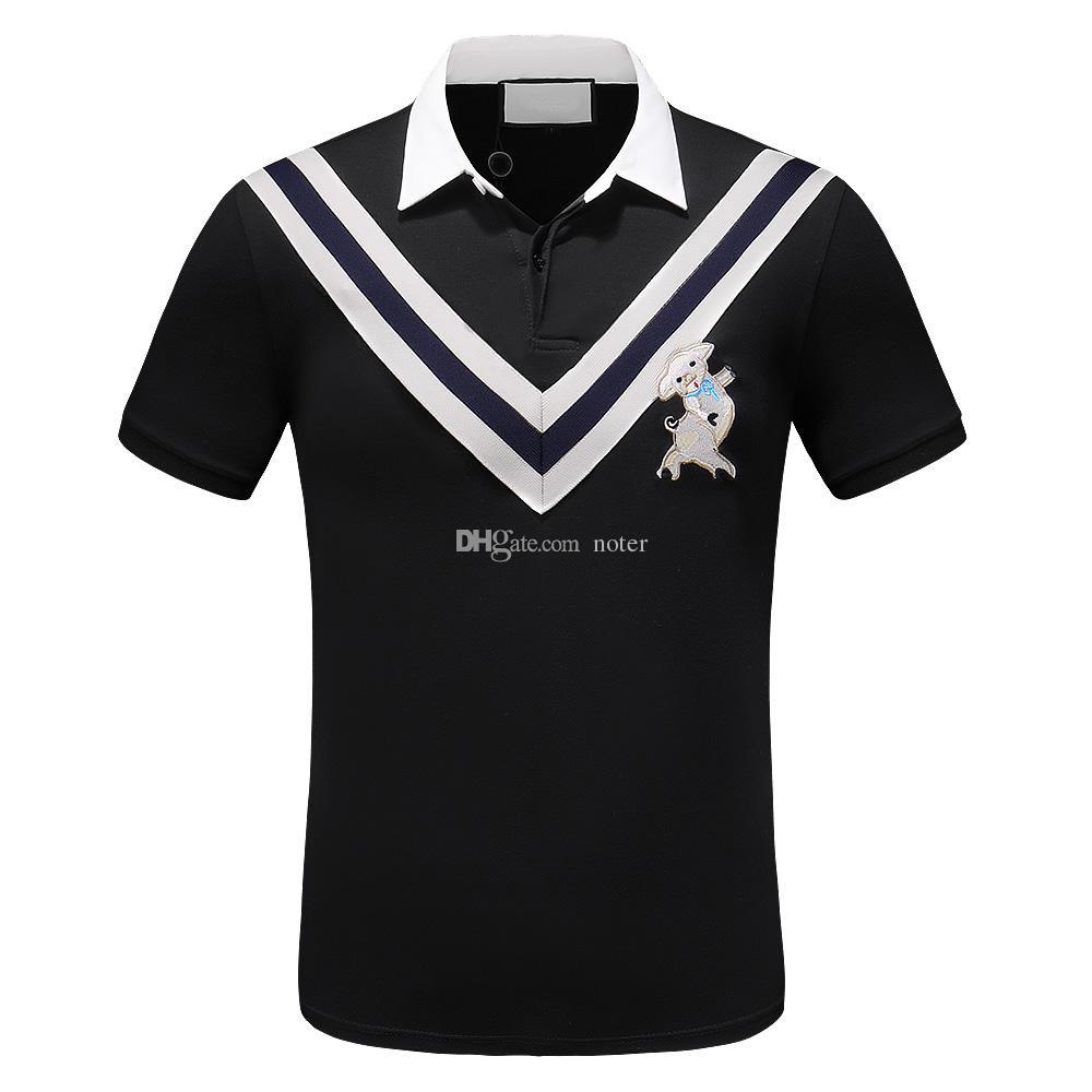 % 100 Pamuk Lüks Erkekler polos t shirt Domuz Tasarımcı Polo Gömlek Nefes Yumuşak Nakış Erkek Polos Man Seksi Günlük Polo tişört En Tees