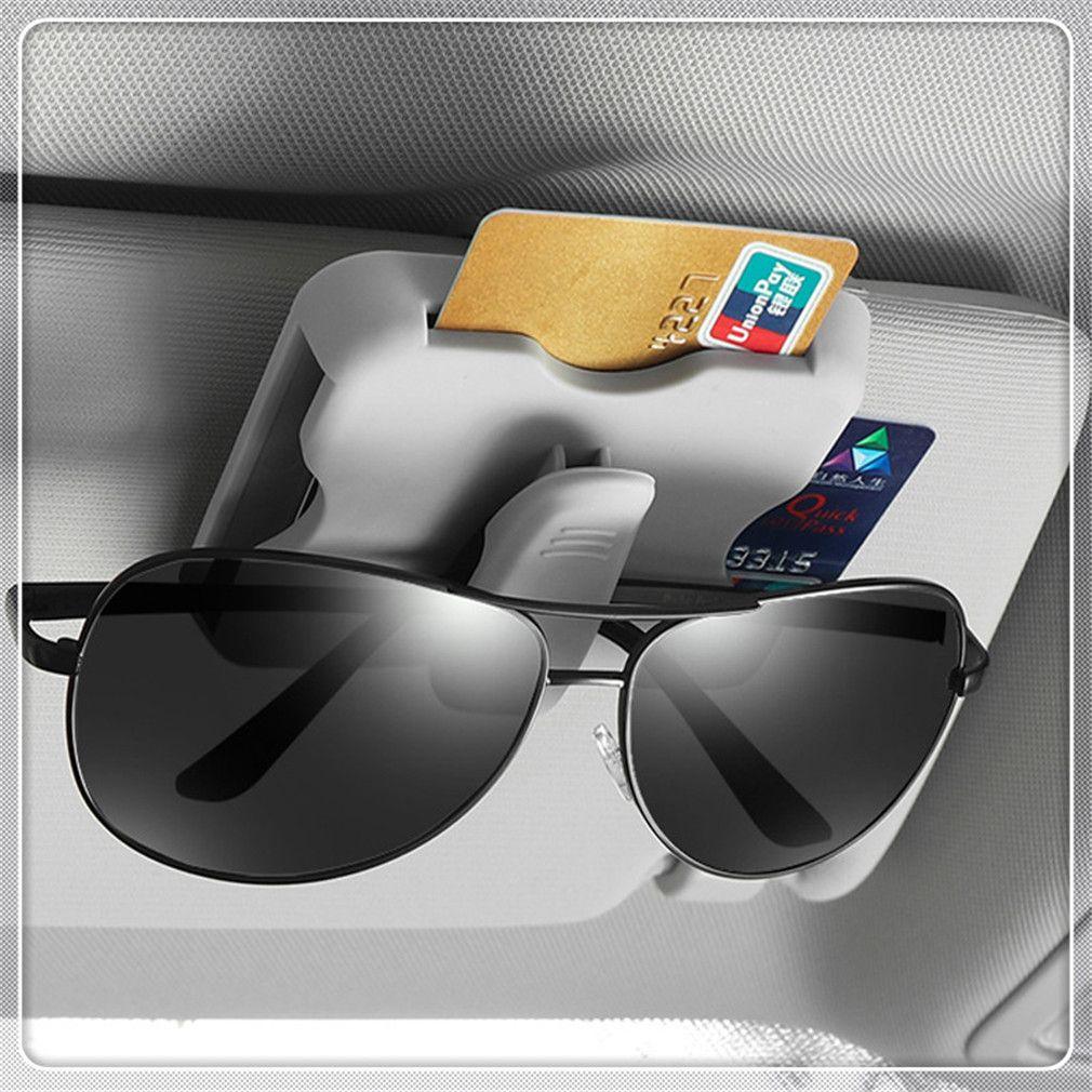 Car Sun Visor Organizer Sun Visor Card Holder Glasses Clip For 530Li 335i 750i 330i 325i 320si 630i X6 M6 640i 640d