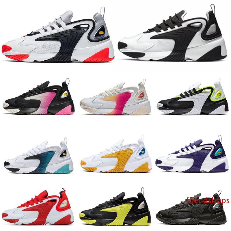 Zoom 2K M2k Tekno кроссовки Мужчины Женщины тройной белый черный инфракрасный Вольт университет Красный мода мужские кроссовки спортивные кроссовки 36-45