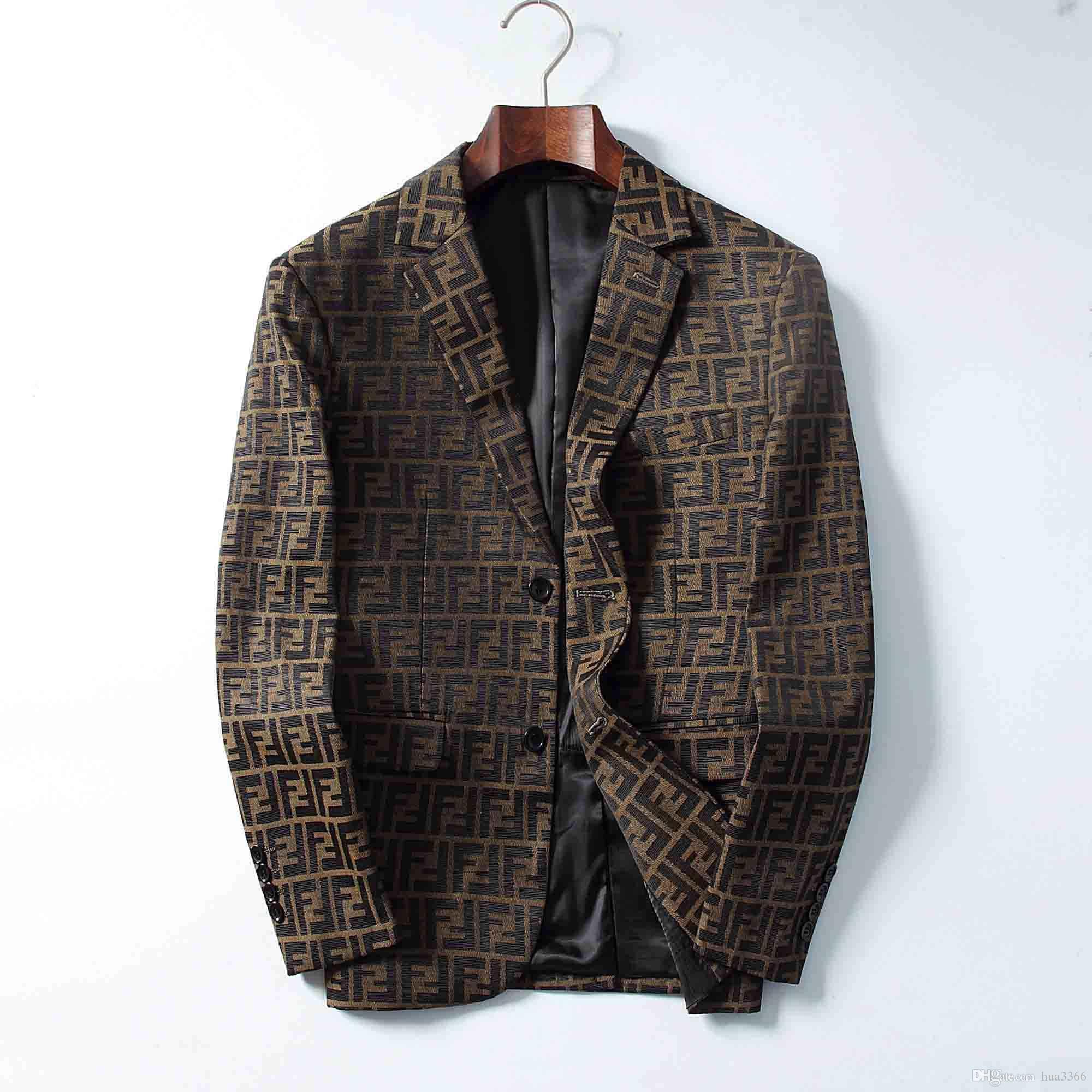 Nouveau style Veste Costume manteaux pour femmes Slim Costume manches Femme lettre macaron du cou à manches longues impression Slim Blazer vêtement