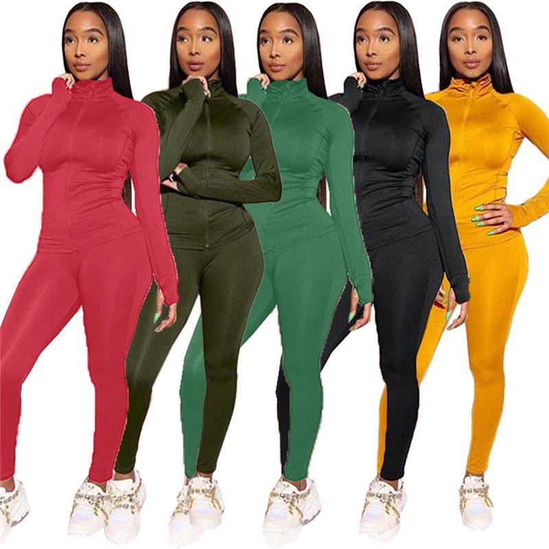 Womens revestimentos do hoodie sportswear agasalho 2 pedaço casaco cardigan conjunto de jogging esporte terno moletom meias esportes terno encabeça terninho klw2867