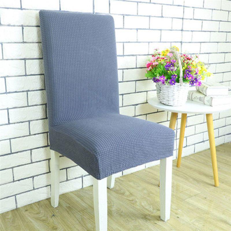 Capa de cadeira de estiramento de spandex removível Slipcover Sala de jantar Assento Caso Home Decor Solid