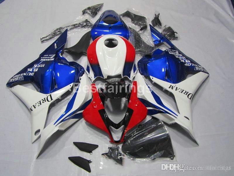 Moulage par injection carénages de haute qualité pour Honda CBR 600RR 09 10 11 kit carénage de carrosserie blanc bleu rouge CBR600RR 2009 2010 2011 XS42