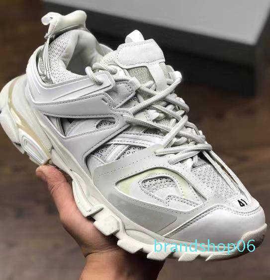 17fw Мода Роскошные дизайнерские Обувь Тройной Mens Женская повседневная обувь Дорожка 3,0 Кроссовки Espadrilles Открытый обуви De Sport Pour Homme водн-6