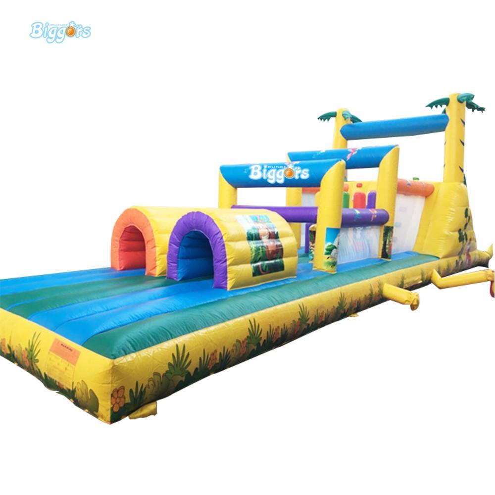 Quintal agradável qualidade pvc comercial crianças e adulto Outdoor inflável saltar casa de obstáculo de bumas com fábrica Price